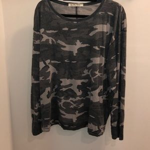 NWT Free People Arielle Printed Knit T-Shirt